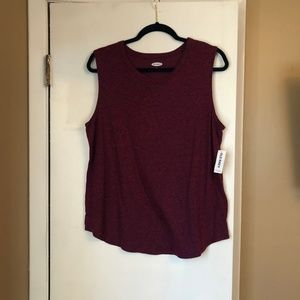 NWT Old Navy Burgundy Muscle Tank L